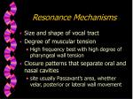 resonance mechanisms