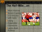 the half mile or