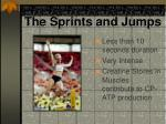 the sprints and jumps