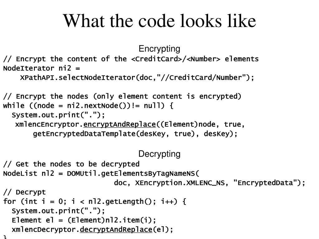 What the code looks like