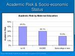 academic risk socio economic status