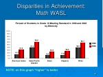 disparities in achievement math wasl