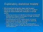 exploratory statistical models