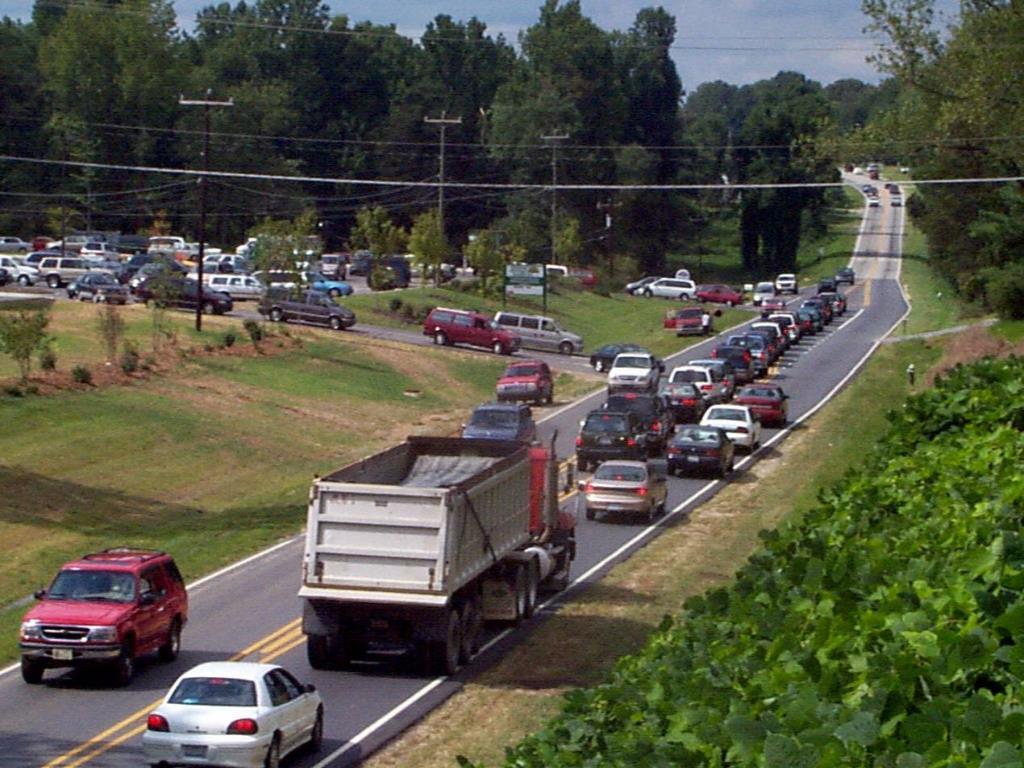 Traffic jam at school
