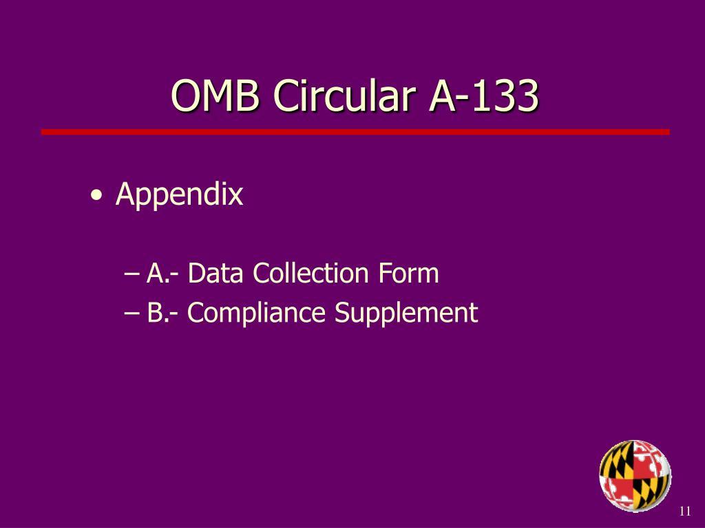 OMB Circular A-133