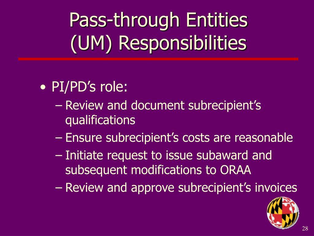 Pass-through Entities