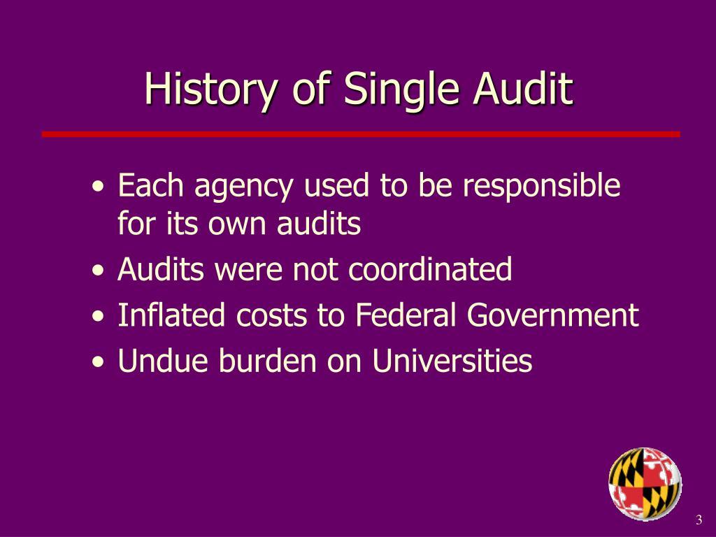 History of Single Audit