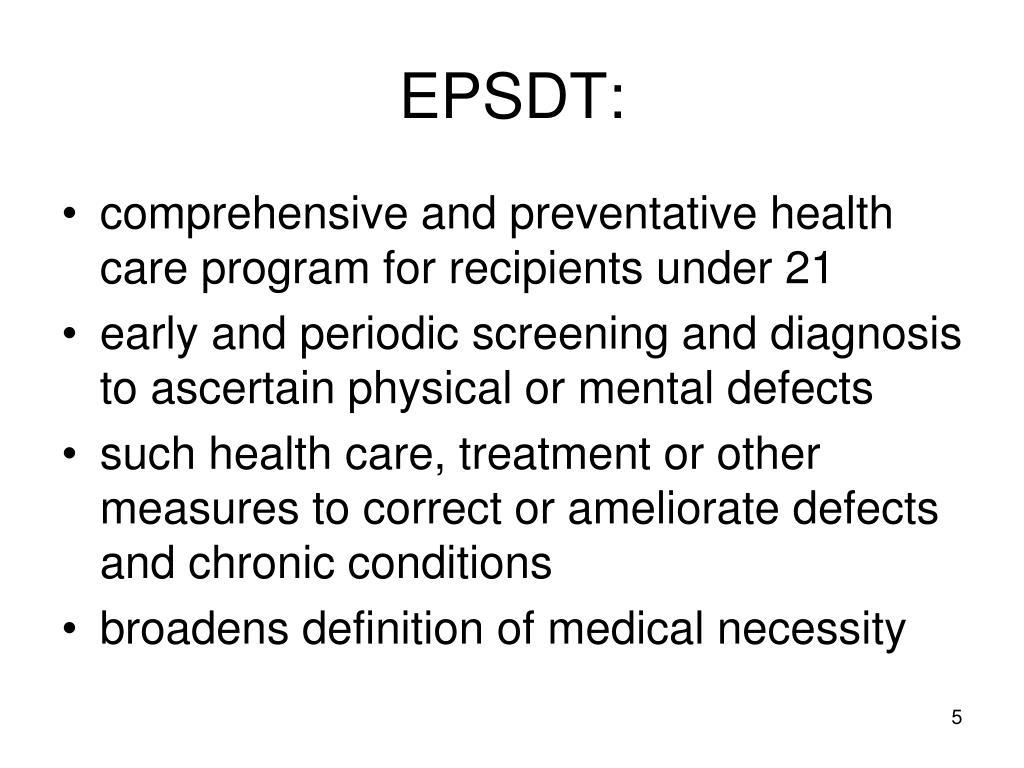 EPSDT: