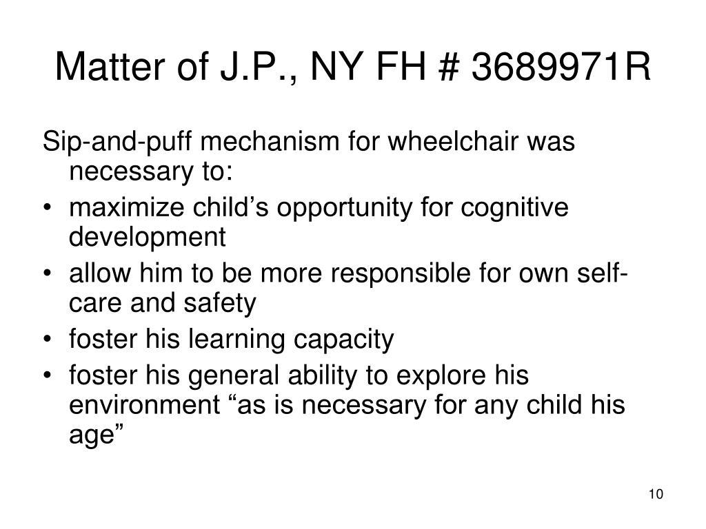 Matter of J.P., NY FH # 3689971R