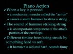 piano action