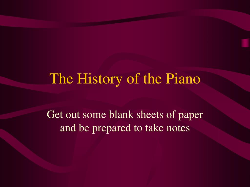 the history of the piano l.