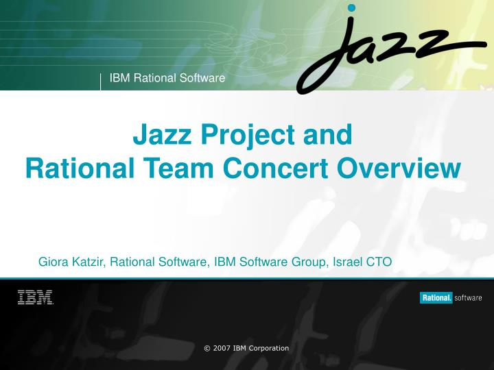jazz project and rational team concert overview n.