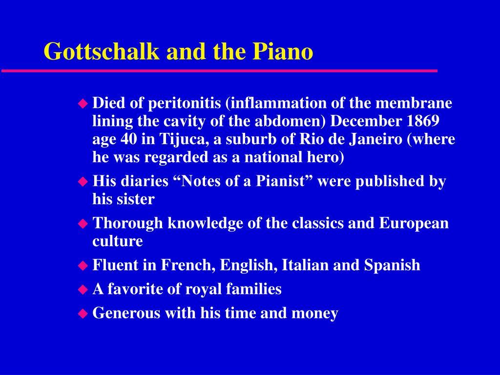 Gottschalk and the Piano