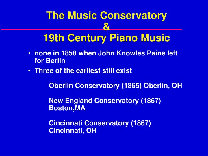 The Music Conservatory