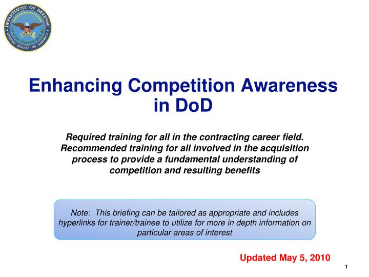 enhancing competition awareness in dod n.
