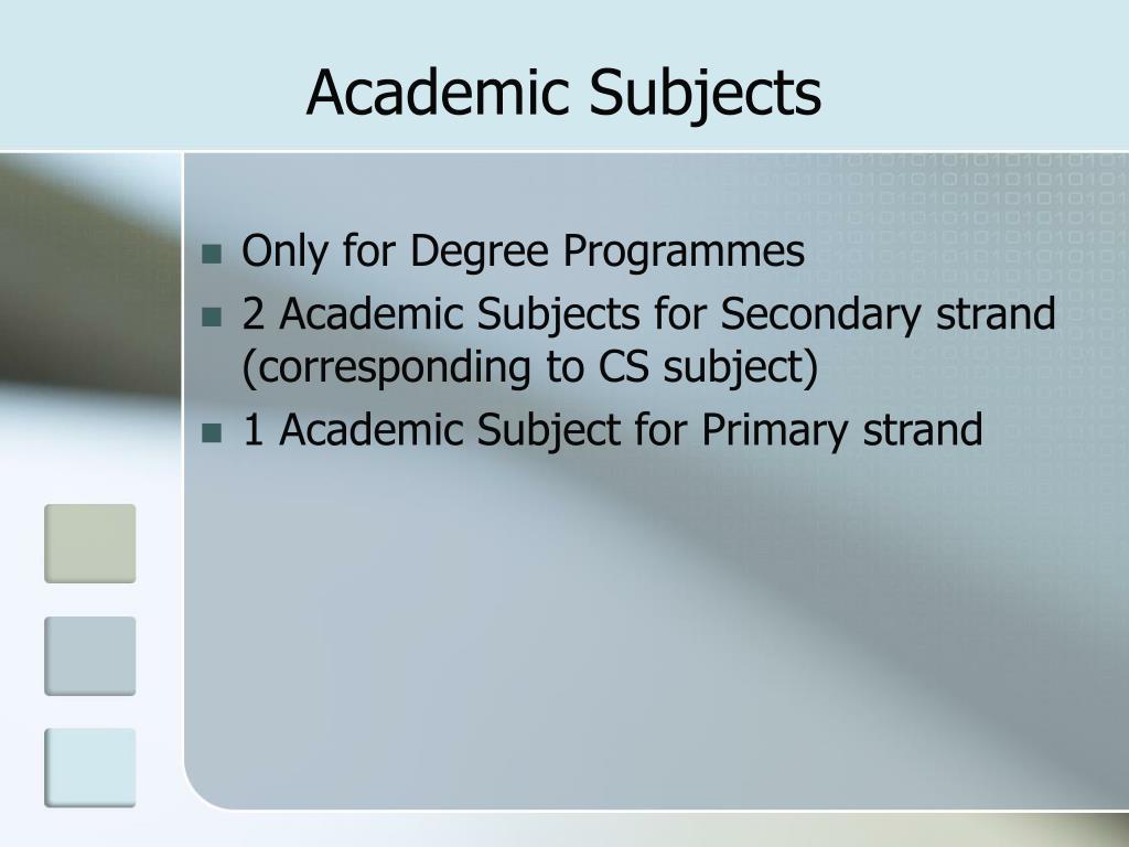 Academic Subjects