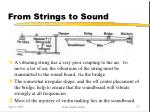 from strings to sound