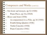 composers and works cont d24