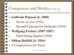 composers and works cont d29