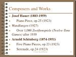 composers and works