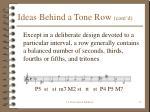 ideas behind a tone row cont d18