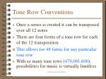 tone row conventions