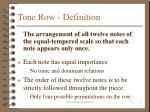 tone row definition
