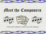 meet the composers