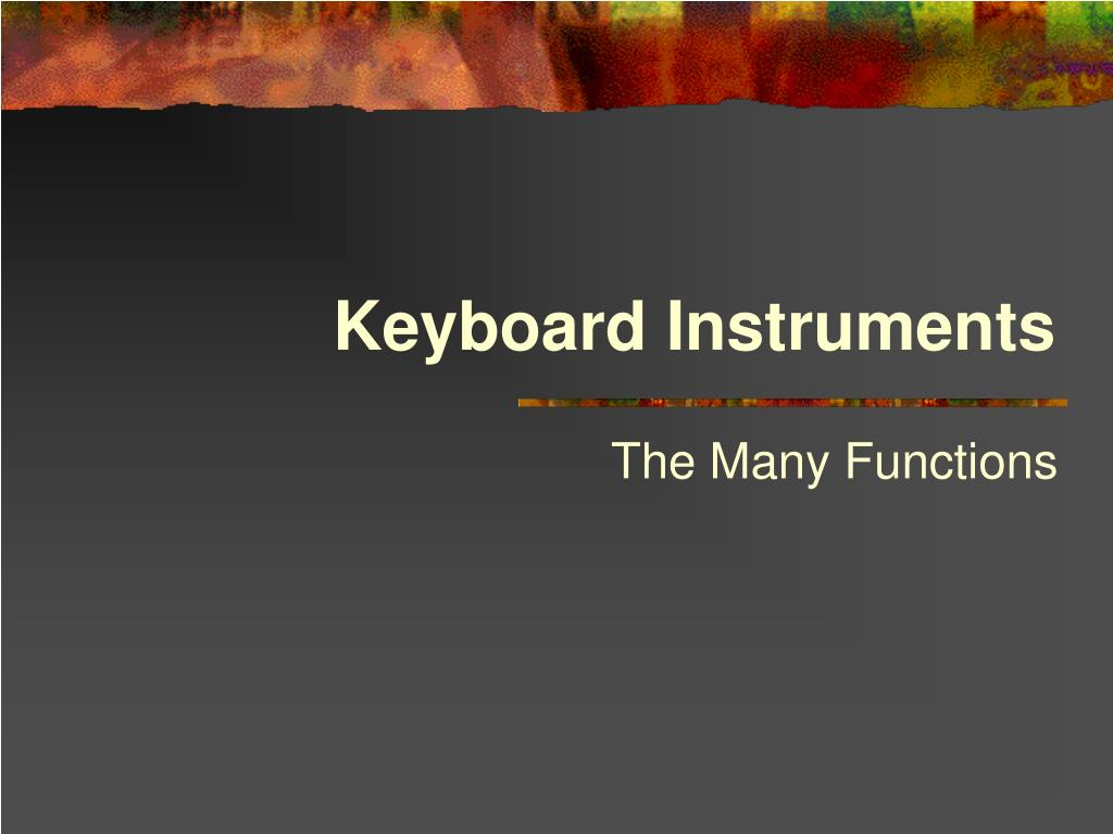 keyboard instruments l.