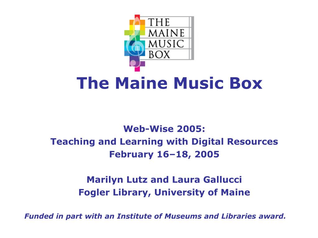 the maine music box l.