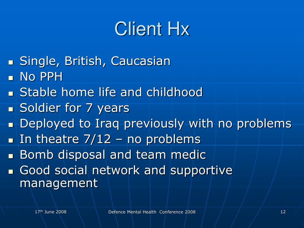 Client Hx
