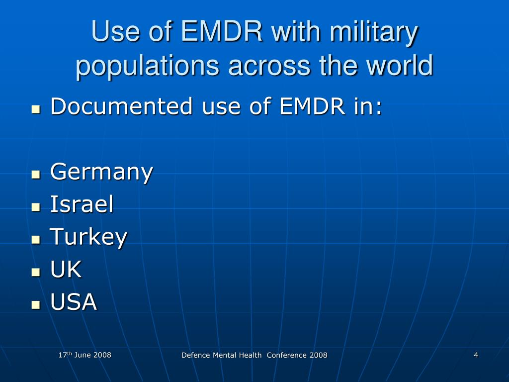Use of EMDR with military populations across the world