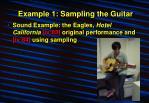 example 1 sampling the guitar