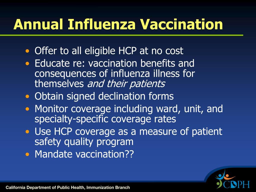 Annual Influenza Vaccination