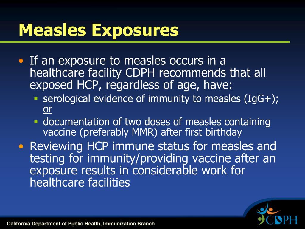 Measles Exposures