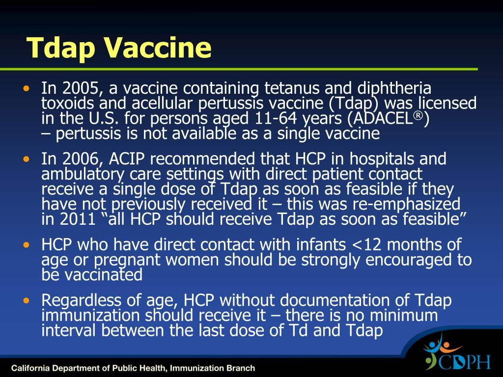 Tdap Vaccine
