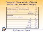 functional characteristics of ohio s passport consumers 2004
