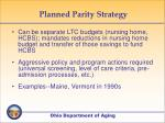 planned parity strategy