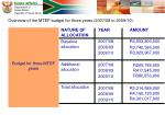 overview of the mtef budget for three years 2007 08 to 2009 1012