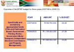 overview of the mtef budget for three years 2007 08 to 2009 1013