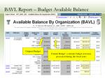 bavl report budget available balance16