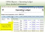 opal report operating ledger more detailed information23