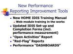 new performance reporting improvement tools