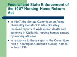 federal and state enforcement of the 1987 nursing home reform act21