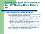 federal and state enforcement of the 1987 nursing home reform act27