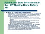 federal and state enforcement of the 1987 nursing home reform act31