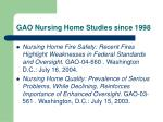 gao nursing home studies since 199835