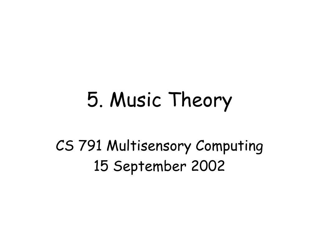 5 music theory l.