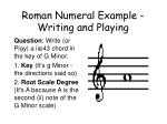 roman numeral example writing and playing