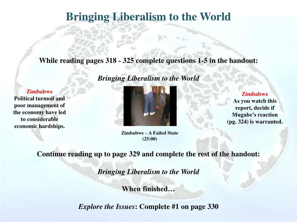 Bringing Liberalism to the World